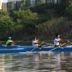 Young rowers fight it out on the Adyar