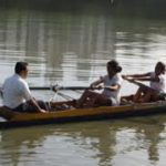 Rowing championships for school, college students. On the Adyar.