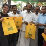 Take your own shopping bags. Abhiramapuram residents' popularise slogan, get into the act