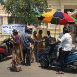 Sathya Sai volunteers to distribute buttermilk during peak summer