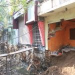 Portions of homes collapse at P. S. Sivaswami Salai