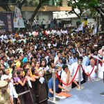 Kamalhassan hoists party flag outside his Alwarpet office