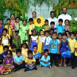KG students of Montfort School colour up their day