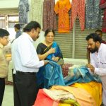 Sale of saris, weaves and crafts of Madhya Pradesh. In Alwarpet