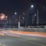 Sparkling crackers light up night sky of Deepavali