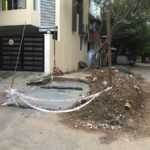 Delay in drain work in Dr. Ranga Lane poses problems
