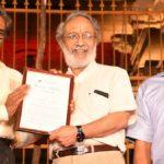Legendary spinner V. V. Kumar decorated with 'Spirit of Mylapore' award