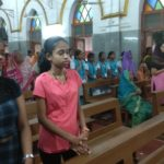 Special mass held for class X and XII students at St Lazarus Church