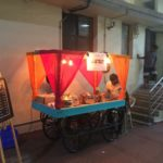 New restaurant atop R. R. Sabha complex promotes itself with food cart