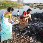 Volunteers join hands with some residents to clear garbage mounds on Adyar's estuary