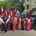 Pollachi case: Members of AIYF, AISF and NFIW stage protest at Sringeri Mutt Road, Mandaveli