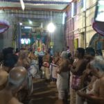 Brahmotsavam at Adi Kesava Perumal Temple : Mela pallaku procession takes place