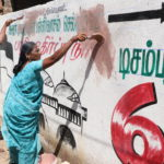 Elections 2019: political posters, graffiti removed