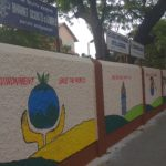 Wall art at P. S. High School, R. K. Mutt Road