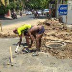 Damaged Metro Water pipe relaid at junction of Dr. Ranga Road