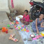 Children play at a nook off Bishops Garden Extension Street, R.A.Puram