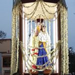 Church community takes out procession in honour of Mother Mary
