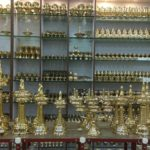 Exhibition and sale of traditional lamps at Giri Trading, Mylapore