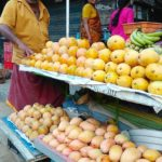 This mada street shop offers variety of mangoes