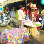 Colourful football patterened balls from Rajasthan sell well in Mylapore