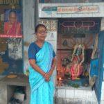 Honouring a senior who took care of the small shrine off Musiri Subramaniam Road