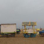 Food stalls at Marina remain closed till late evening as vendors anticipate rain