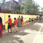 Abiramapuram zone community turns smelly lane into colourful zone