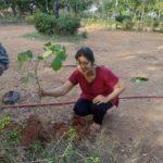 To mark her birthday, Jayanthi Sundar plants saplings in park