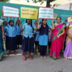 A rally for water conservation and saving trees