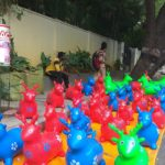 Colourful toys attracts children