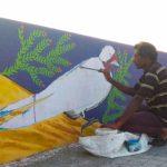EFI paints the wall of Thiru-Vi-Ka bridge