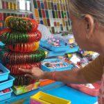 Women buy bangles and vara lakshmi nombu sets at North Mada Street, Mylapore