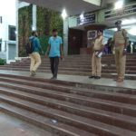 Railway police step up security at Thirumayilai MRTS station main entrance to prevent drunken men from creating nuisance