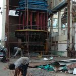 Sri Kapali Temple car shed: shutter being set right