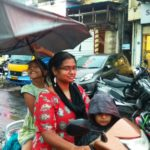 Heavy rains in Mylapore on Friday evening: untapped rainwater seen in many places