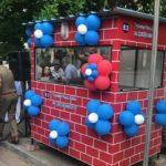 Police booth set up by residents of Sriram Nagar, Alwarpet
