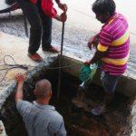 Recharge wells being built on Venkatakrishna Road, Mandaveli