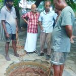 RWH: Residents of Ranga Road construct recharge wells at their apartment complex