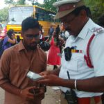 Mylapore traffic police intensifies checking of traffic violations; issues warning regarding hefty fines