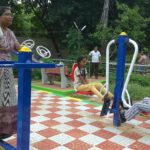 Open-air gym set up at public park off Kamarajar Salai, R.A Puram