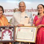 Governor honours Vyjayantimala Bali with award