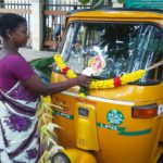 Navarathri fest: Auto drivers of neighbourhood stands perform mass puja