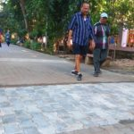 Sections of walk paths in Nageswara Rao Park being relaid