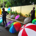 With monsoon, comes the big multi-coloured umbrellas