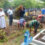 Two cemeteries cleaned for All Souls Day prayers on Nov.2