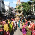 Devotees pull chariot around Sri Vedanta Desikar Temple environs