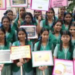 School girls sensitise public to shun crackers, light diyas this Deepavali