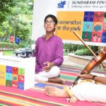Navaratri: first of three morning, mikeless concerts at park held this morning