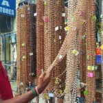 This store at North Mada Street sells chains, dhotis for Sabarimala pilgrims