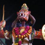 Soorasamharam at two ends of mada streets on Saturday